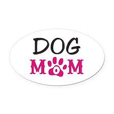 Dog Mom Oval Car Magnet