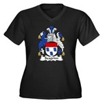 Seagrim Family Crest Women's Plus Size V-Neck Dark
