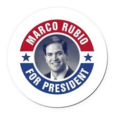 Marco Rubio For President Round Car Magnet