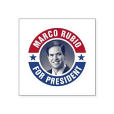 "Marco Rubio For President Square Sticker 3"" x 3"""