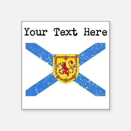 Worn Nova Scotia Flag (Custom) Sticker