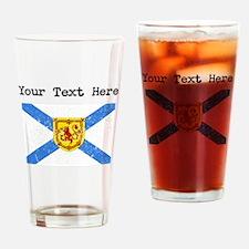 Worn Nova Scotia Flag (Custom) Drinking Glass