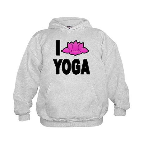 I Love Yoga Kids Hoodie