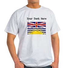 Worn British Columbia Flag (Custom) T-Shirt