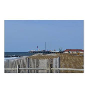 Steel pier from several blocks away on a pathway to the beach with fencing in the foreground. © Amy Marie 2015