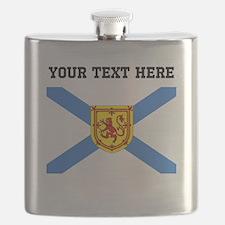 Custom Nova Scotia Flag Flask