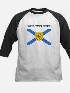 Custom Nova Scotia Flag Baseball Jersey