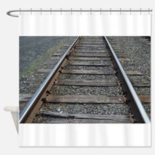 Funny Train tracks Shower Curtain