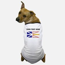Custom Newfoundland Flag Dog T-Shirt