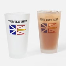 Custom Newfoundland Flag Drinking Glass