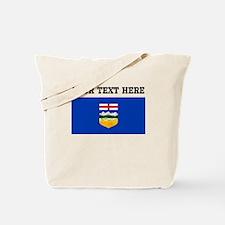 Custom Alberta Flag Tote Bag