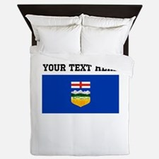 Custom Alberta Flag Queen Duvet