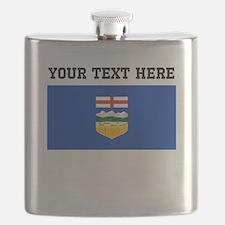Custom Alberta Flag Flask