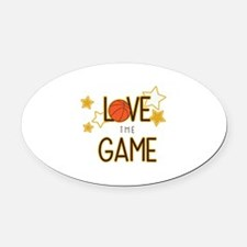 Love The Game Oval Car Magnet