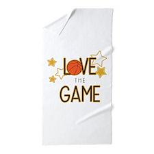 Love The Game Beach Towel