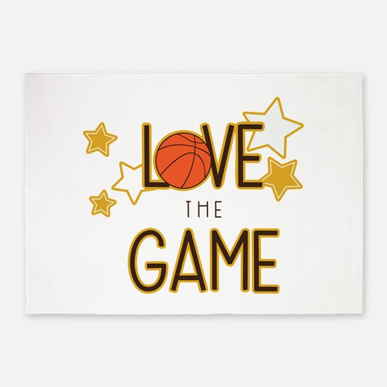 Love The Game 5'x7'Area Rug