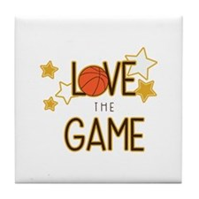 Love The Game Tile Coaster