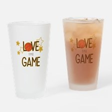 Love The Game Drinking Glass
