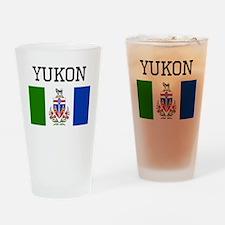 Yukon Flag Drinking Glass