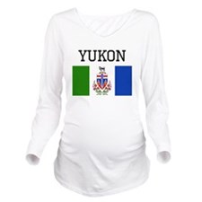 Yukon Flag Long Sleeve Maternity T-Shirt