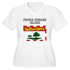 Prince Edward Island Flag Plus Size T-Shirt