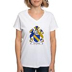Scroope Family Crest Women's V-Neck T-Shirt