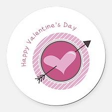 Happy Valentines Day Round Car Magnet
