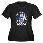 Scrogg Family Crest Women's Plus Size V-Neck Dark