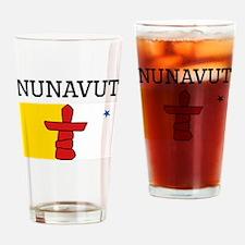 Nunavut Flag Drinking Glass