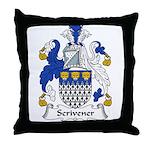 Scrivener Family Crest Throw Pillow