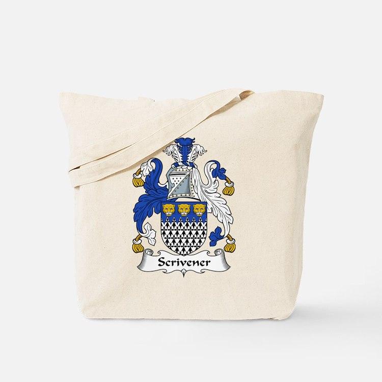 Scrivener Family Crest Tote Bag