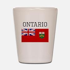 Ontario Flag Shot Glass