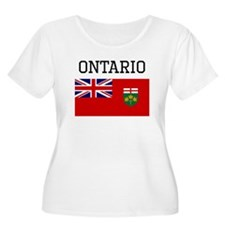 Ontario Flag Plus Size T-Shirt