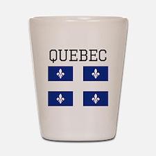 Quebec Flag Shot Glass