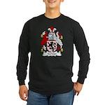 Scriven Family Crest Long Sleeve Dark T-Shirt