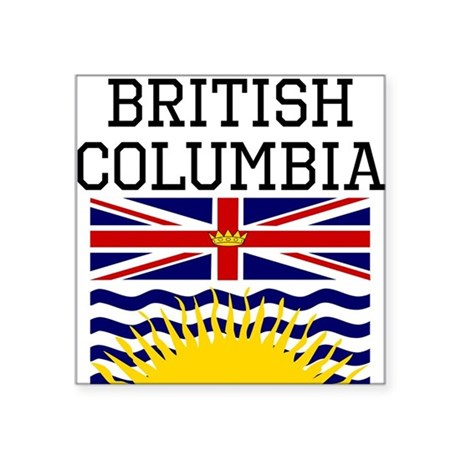 British columbia flag sticker by ohhcanada for British columbia flag coloring page