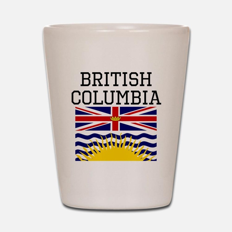 British Columbia Flag Shot Glass