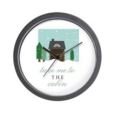 To The Cabin Wall Clock