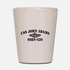 USS JOHN ADAMS Shot Glass