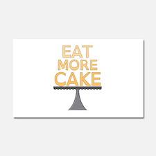 Eat More Cake Car Magnet 20 x 12