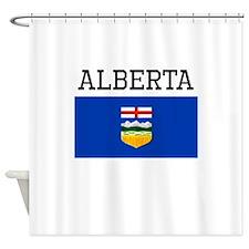 Alberta Flag Shower Curtain