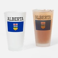 Alberta Flag Drinking Glass