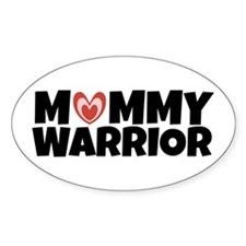 Mommy Warrior (with Heart) Decal