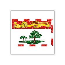 Worn Prince Edward Island Flag Sticker