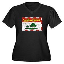 Worn Prince Edward Island Flag Plus Size T-Shirt