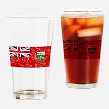Worn Ontario Flag Drinking Glass