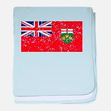 Worn Ontario Flag baby blanket