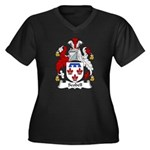Scobell Family Crest Women's Plus Size V-Neck Dark