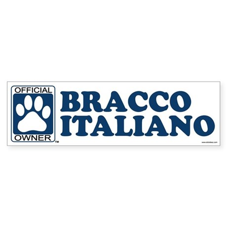 BRACCO ITALIANO Bumper Sticker