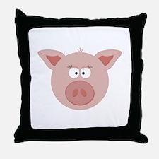 Pig Face Throw Pillow